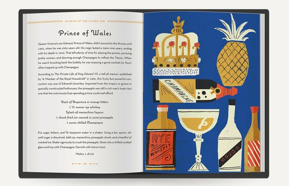 Danielle Kroll | The Art of Vintage Cocktails #illustration #recipe #book #layout #edition
