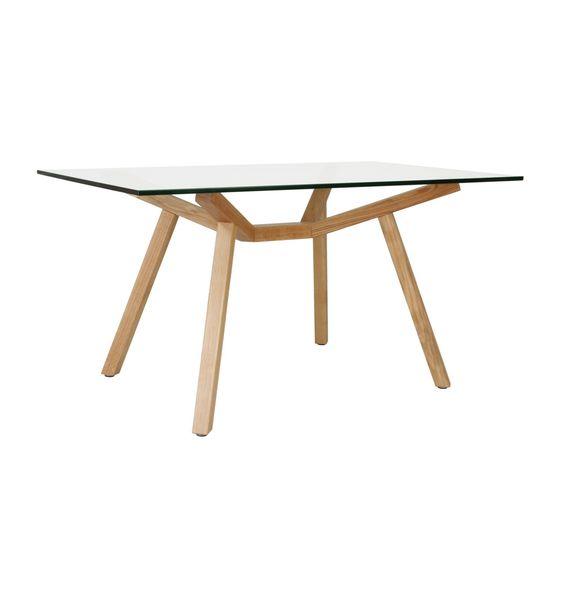 Matt Blatt Eames Coffee Table: Original Design Sean Dix Forte Dining Table Glass Small