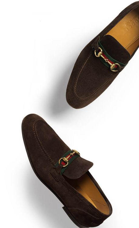 #gucci #man #shoe #brown #suede