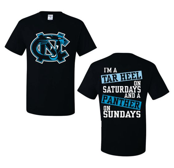 Tar Heel on Saturday Panther on Sunday | Tar Heels, On Sunday and ...