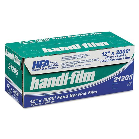 "Handi-Film Standard Cling Film, Clear, 12"" X 2000 Ft"