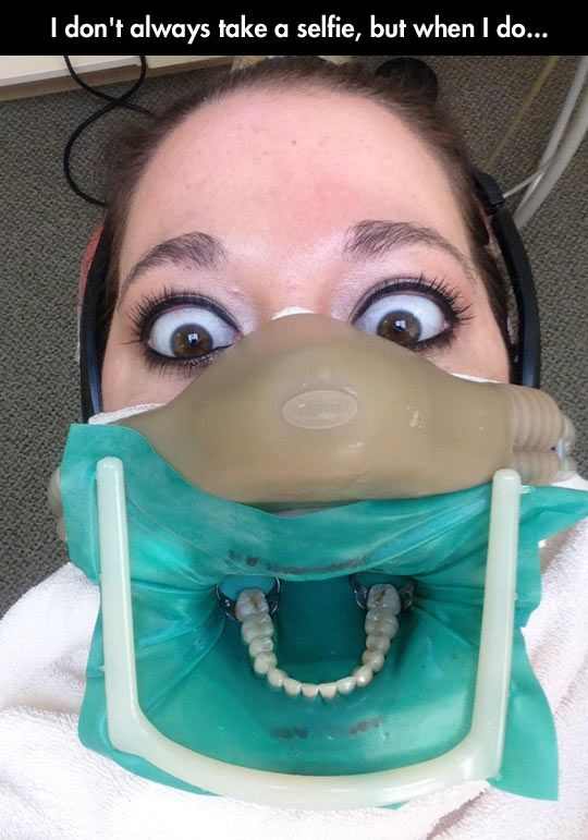 Selfie at the dentist // funny pictures - funny photos - funny images - funny pics - funny quotes - #lol #humor #funnypictures