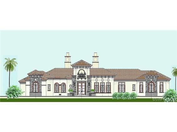 Mediterranean golf estate home rendering - Imperial Homes - Quail West