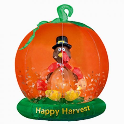 Outdoor inflatable thanksgiving yard decorations turkey for Airblown turkey decoration