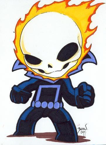 Chibi-Ghost Rider by hedbonstudios | Chibi | Pinterest ...