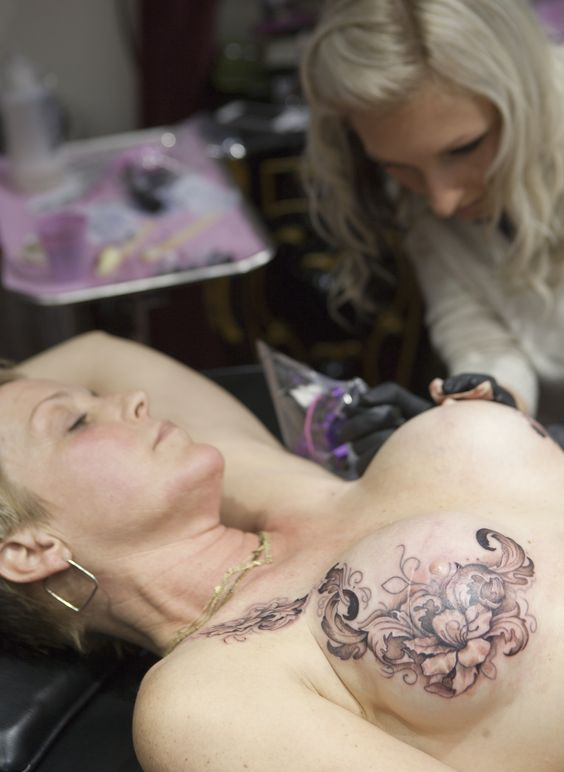 Pernambuco blossom to cover mastectomy scars even after for Breast reconstruction tattoos