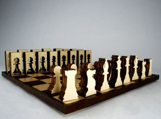 sustainable chess set: Lasercut Chess, Creative Chess, Chess Lasercutting, Chessboard, Chess Sets, Chess Piece