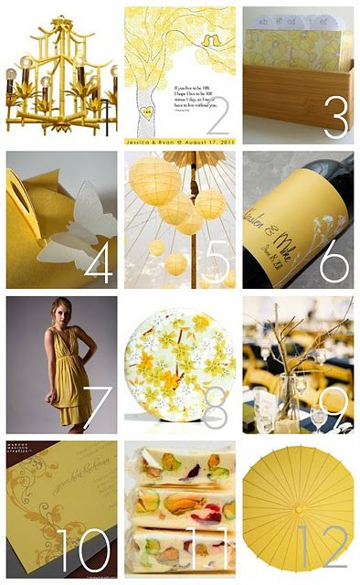 Bamboo Yellow inspired event goodies