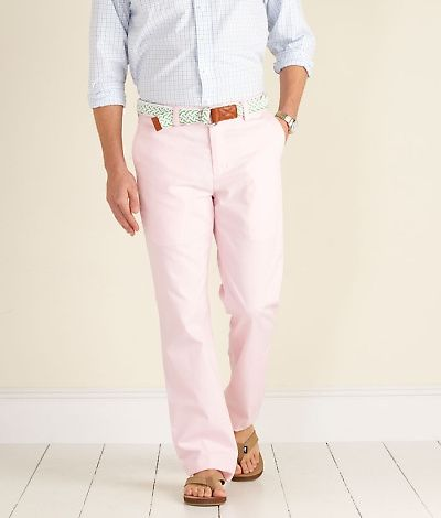 Why we like these: #1: shaded pants & shorts are the hot right now; #2: slim leg, flat front pants are stylish & #2: Girls love a guy that wears pink. Purchase these on our sister store's website: www.thepinkpelican.com - $85