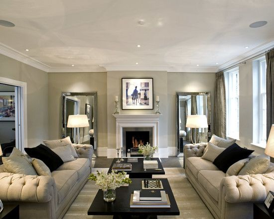 """Slightly Pushed In Furniture - """"Never push furniture up against the walls. By pulling your seating arrangement in (even just a few inches) you instantly warm up a space and create flow.""""- Betsy Burnham"""