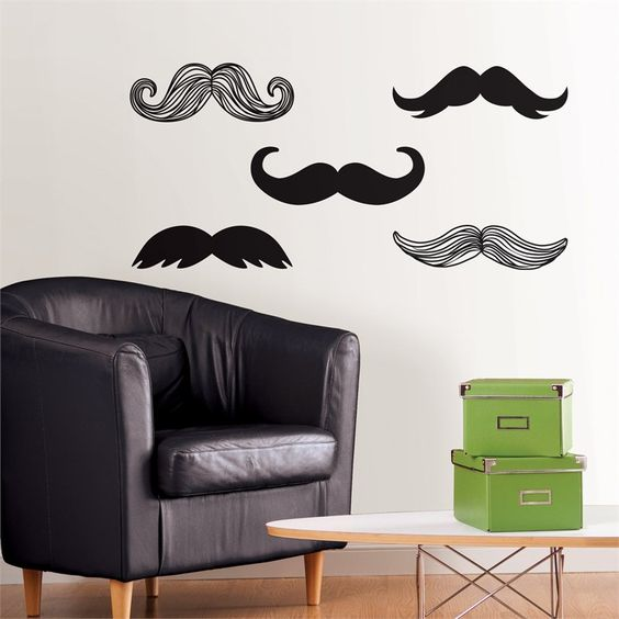 Mustache Wall Decal Kit - Giftsoul