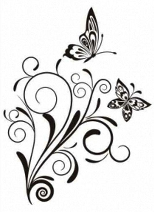 Arabescos para bordar imagui desenhos pinterest borboletas - Dibujos de cenefas para pintar ...