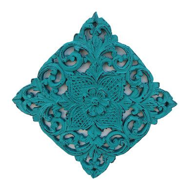 Asian Art Imports Hand Carved Teak Wall Décor