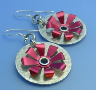 How to Make Riveted Recycled Soda Can Earrings - The Beading Gem's Journal