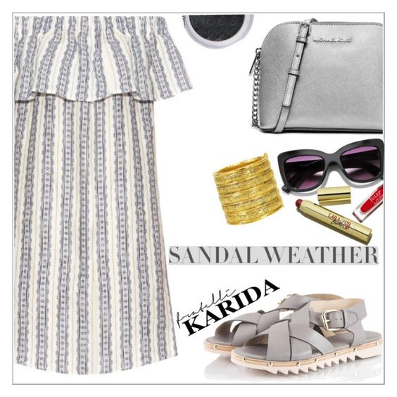 """Fratelli Karida"" by simona-altobelli ❤ liked on Polyvore featuring Sea, New York, Attilio Giusti Leombruni, MICHAEL Michael Kors and Chanel"
