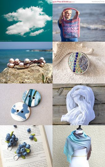 seaside luggage by Audra Zili on Etsy--Pinned with TreasuryPin.com