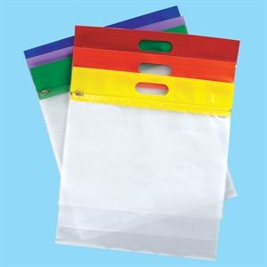 Color Code Handle Bags Clear Acid Free Archival Bags