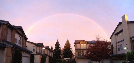Rainbow over Sacramento 12/21/12