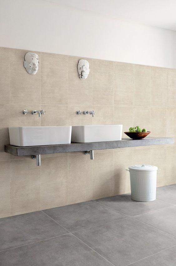 Beige In The Bathroom Beige Bathroom Beige Tile Grey Flooring