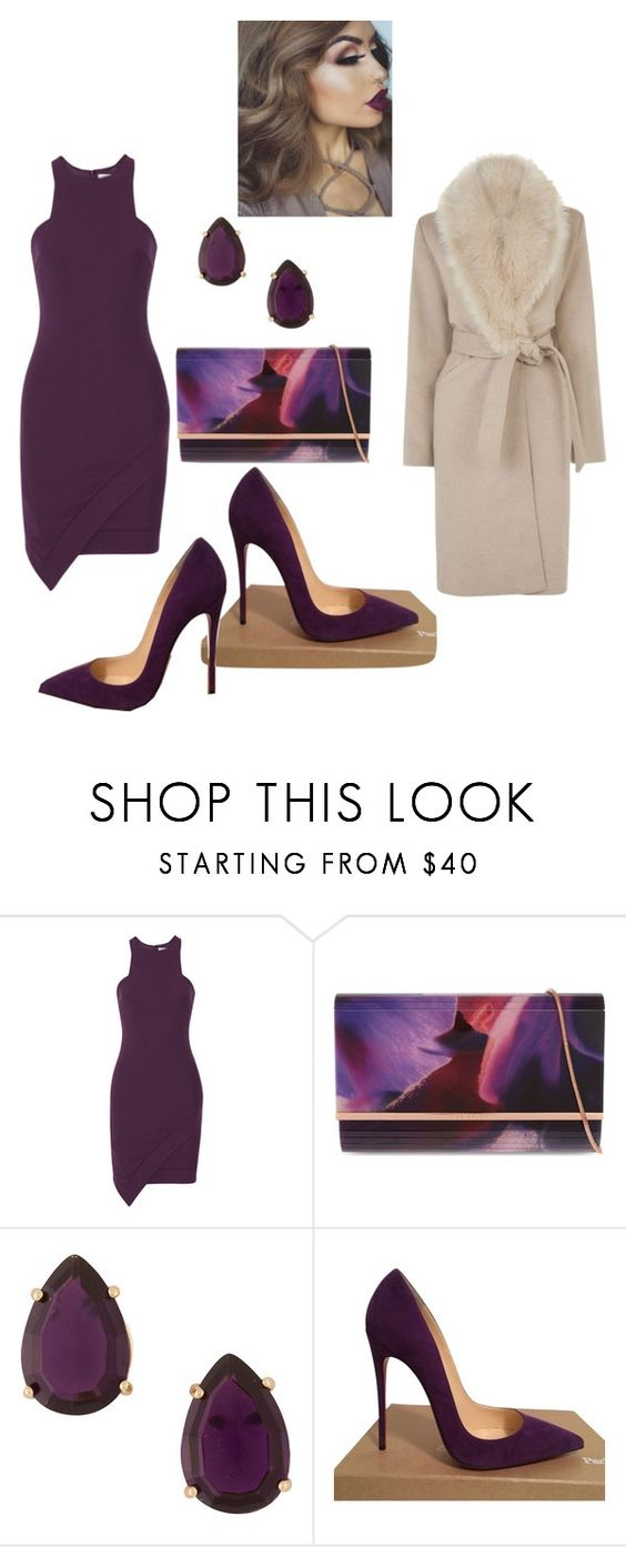 """""""Untitled #1865"""" by stephstyle76 ❤ liked on Polyvore featuring Elizabeth and James, Ted Baker, Christian Louboutin and Warehouse"""