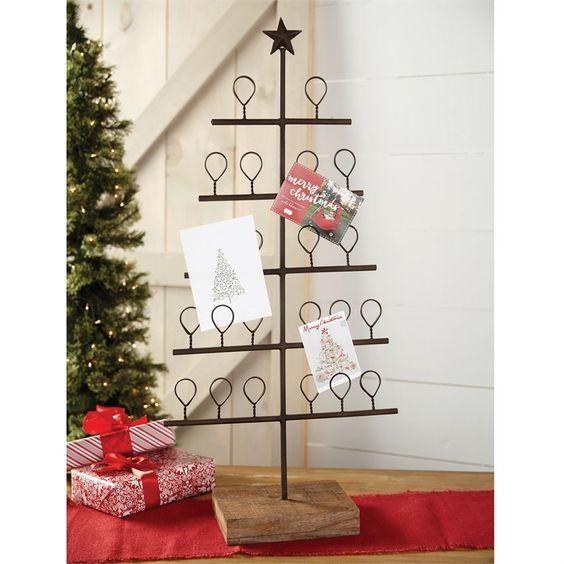 Metal Tree Christmas Card Holder Metal Christmas Tree Christmas Tree Card Holder Holiday Card Display