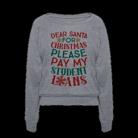 Dear Santa please pay...