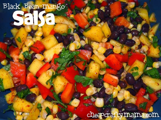 Mango salsa, Mango and Black beans on Pinterest