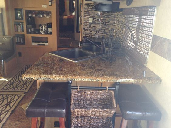 Countertop Oven For Rv : , new countertops, redone appliances, new faucet and sink. RV ...