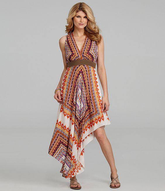 Antonio Melani Lourdes Handkerchief-Print Dress | Dillard's. gorgeous!!
