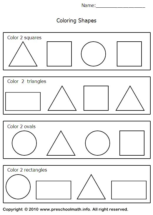 triangle worksheets preschool – Shapes Worksheet Kindergarten