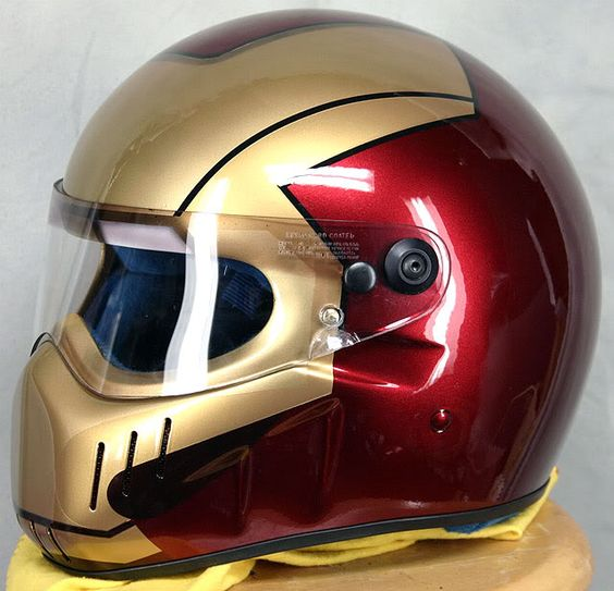 motorcycle helmet iron man