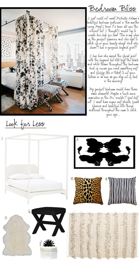 On the blog today: Michelle Adams's Bedroom look 4 less!    #michelleadams #Lonny #bedrooms