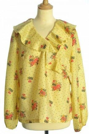 Vintage Floral 70s blouse at http://www.bragvintage.co.uk #retro #vintage #70s #floral