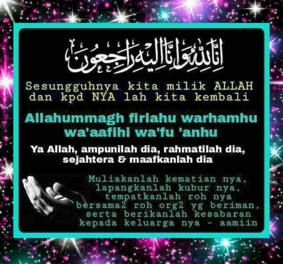 Salam Takziah Al Fatihah Kutipan Pelajaran Hidup Kutipan Doa Kata Kata Indah
