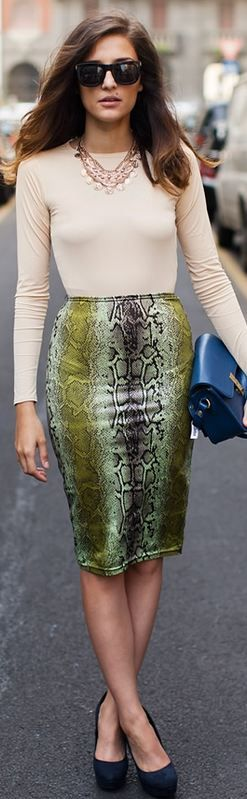 Pencil Skirt for the Office....All she needs a pencil!  Gorgeous!
