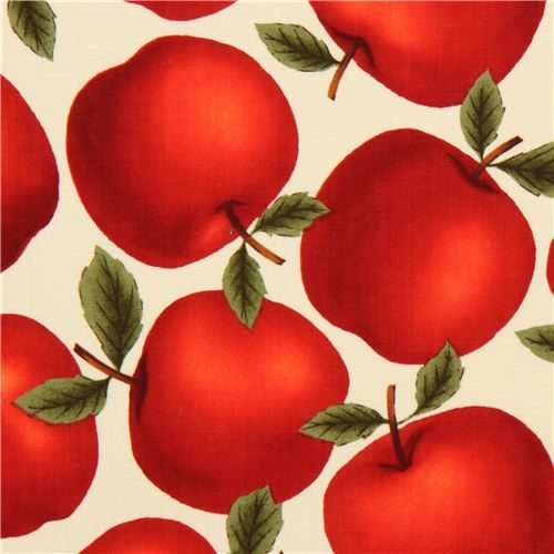 cream apples fabric by Timeless Treasures USA