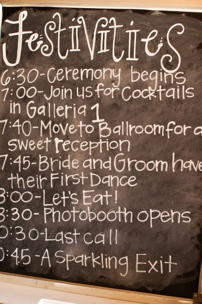 my venue! at 8:30 spot put something else, and add don't forget to leave your fingerprint! - great idea to put in the galleria or in the ballroom hallway