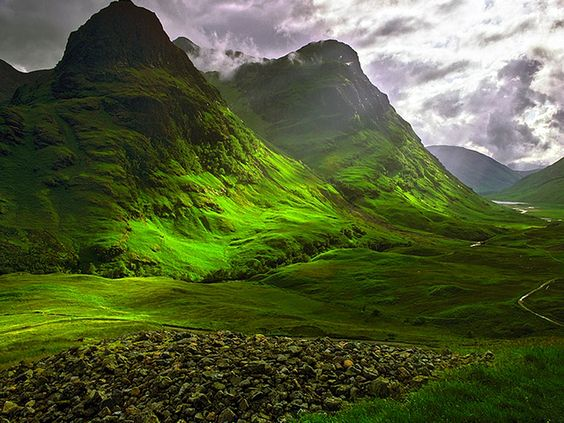 Glencoe, Scotland. This place is so full of history & has an eerie feeling to it.