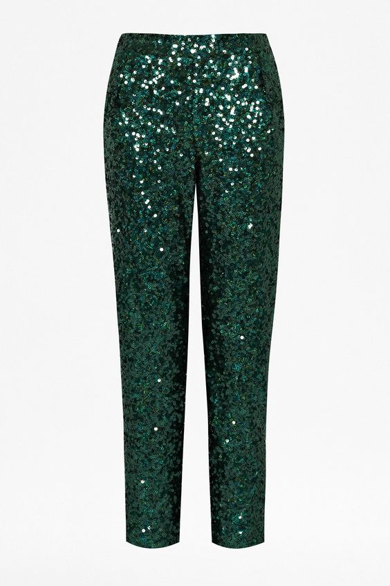 Sirius Sequinned Trousers -- French Connection.  Purchased and obsessed.