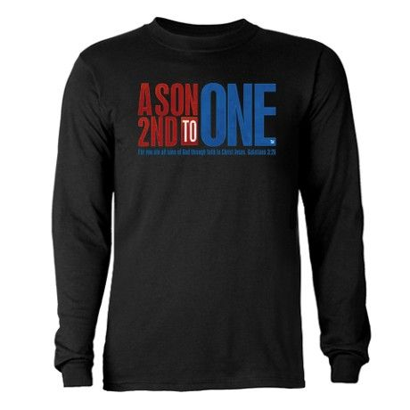 My new design! A Son 2nd To One Long Long Sleeve Dark T-Shirt