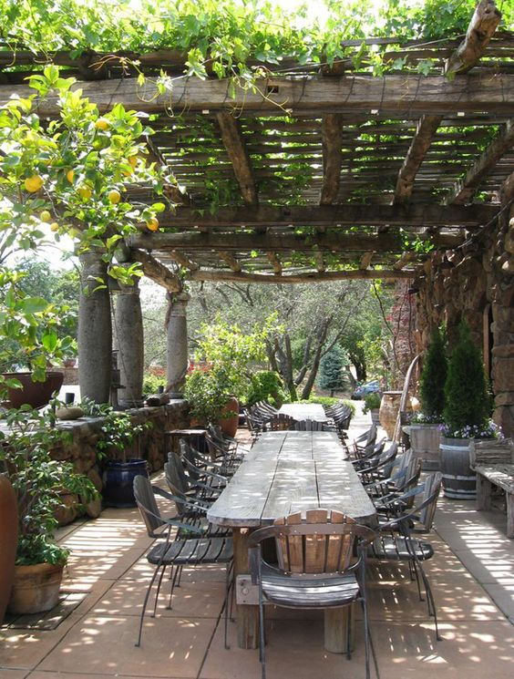 Les plus belles terrasses de Pinterest - Rustique: