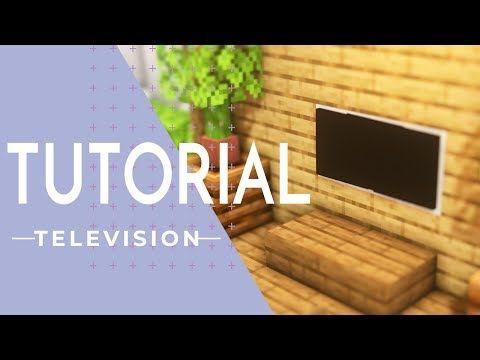 マインクラフト家具 壁かけテレビの作り方 内装建築 Youtube マイクラ 家具 マインクラフト 内装