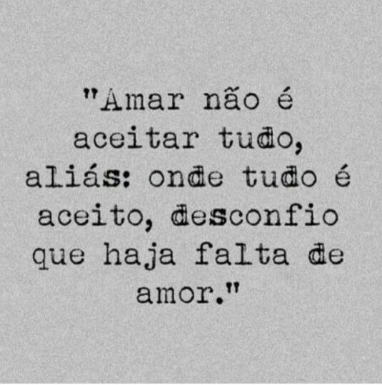 Amar não é...