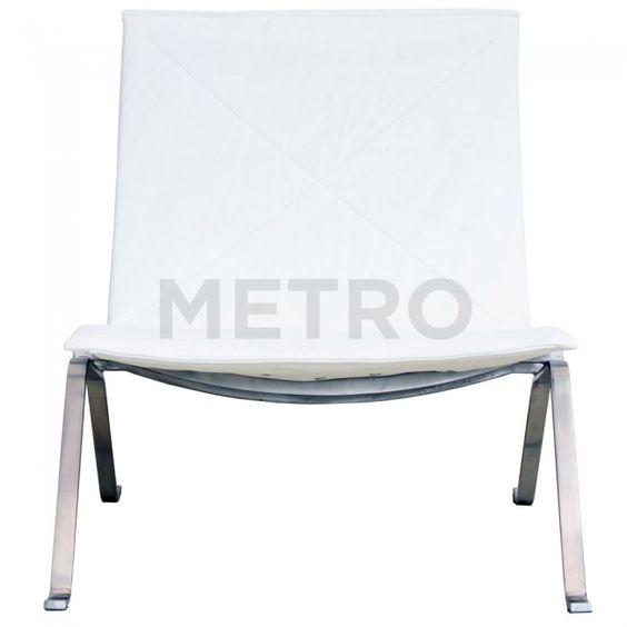 Poul Kjaerholms PK22 Relax easy chair in White