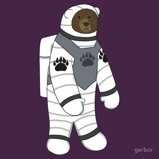 """""""Astronaut bear """" T-Shirts & Hoodies by gerbor 