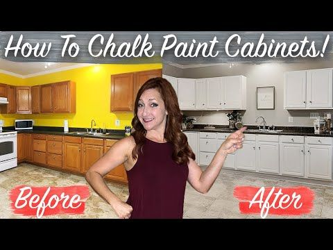 How To Chalk Paint Kitchen Cabinets No Sanding Fast Easy Diy Youtube In 2020 Chalk Paint Kitchen Chalk Paint Kitchen Cabinets Painting Kitchen Cabinets