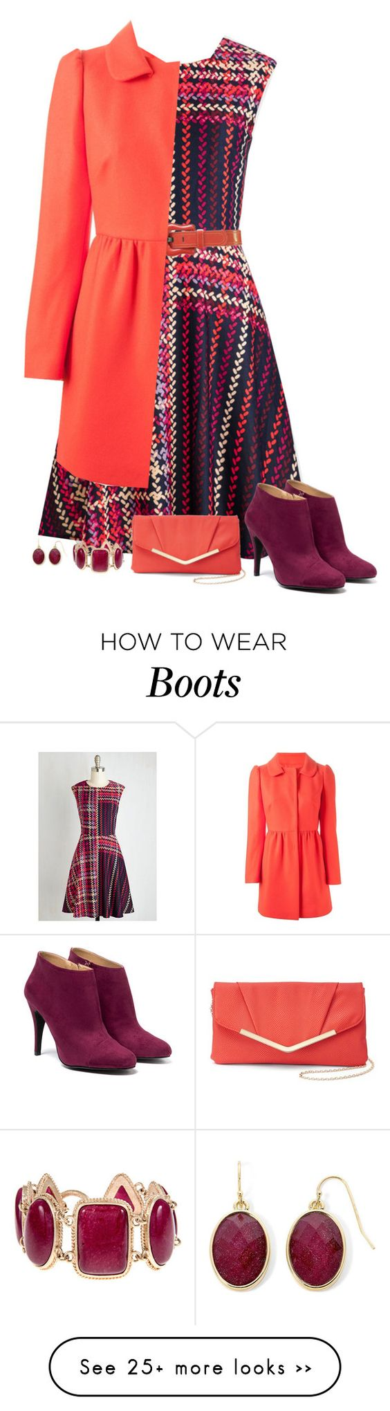 """""""berry & coral"""" by divacrafts on Polyvore featuring Fendi, RED Valentino, Liz Claiborne and Original"""