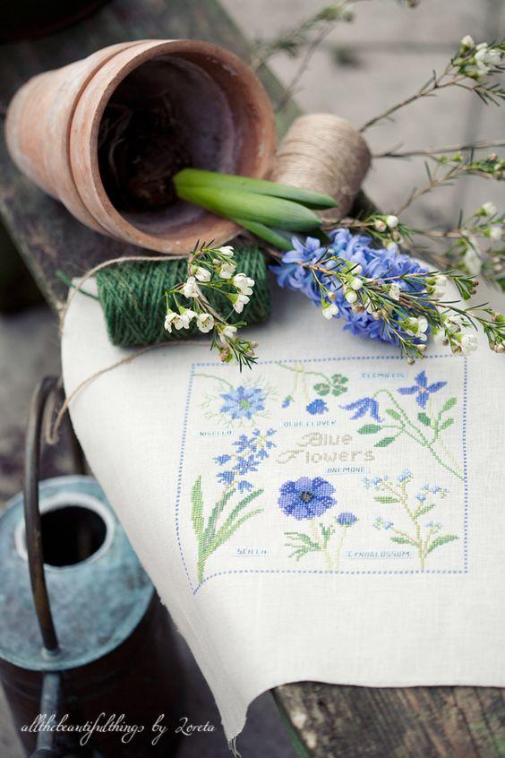 Blue Flowers (Kazuko Aoki):