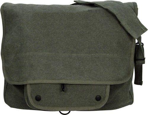 Amazon.com: Classic Cotton Canvas Paratrooper Shoulder Messenger Bag: Clothing