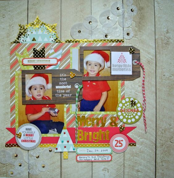 Lay out usingThe Good Tidings Collection by Chic Tags